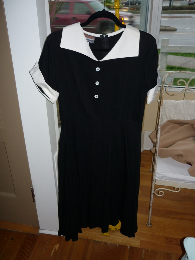 "Black and White ""I love Lucy"" dress."