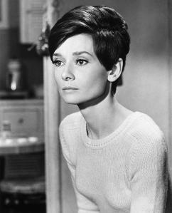 A great haircut will dress up a plain top.  This long short cut is perfect for Audrey's bone structure: I mean, look at that jaw!  The4 cheekbones! People will notice your hair first, so consult a hairstylist recomended to you by someone with a great cut (ask people you see anywhere, I've done it!) and get your very best hair!