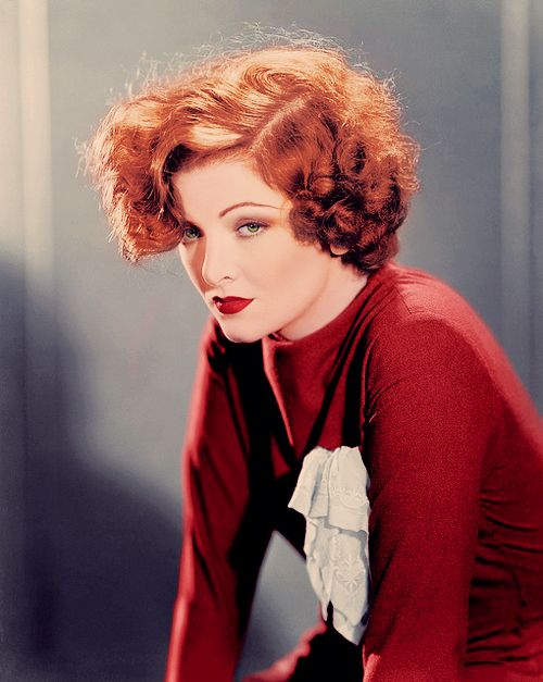 red hair Myrna Loy