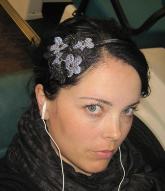 I have a thing for hairbands and fascinators, and this one is so cute!  I used to wear it a lot, and I still have it....I should incorporate it into an outfit sometime.