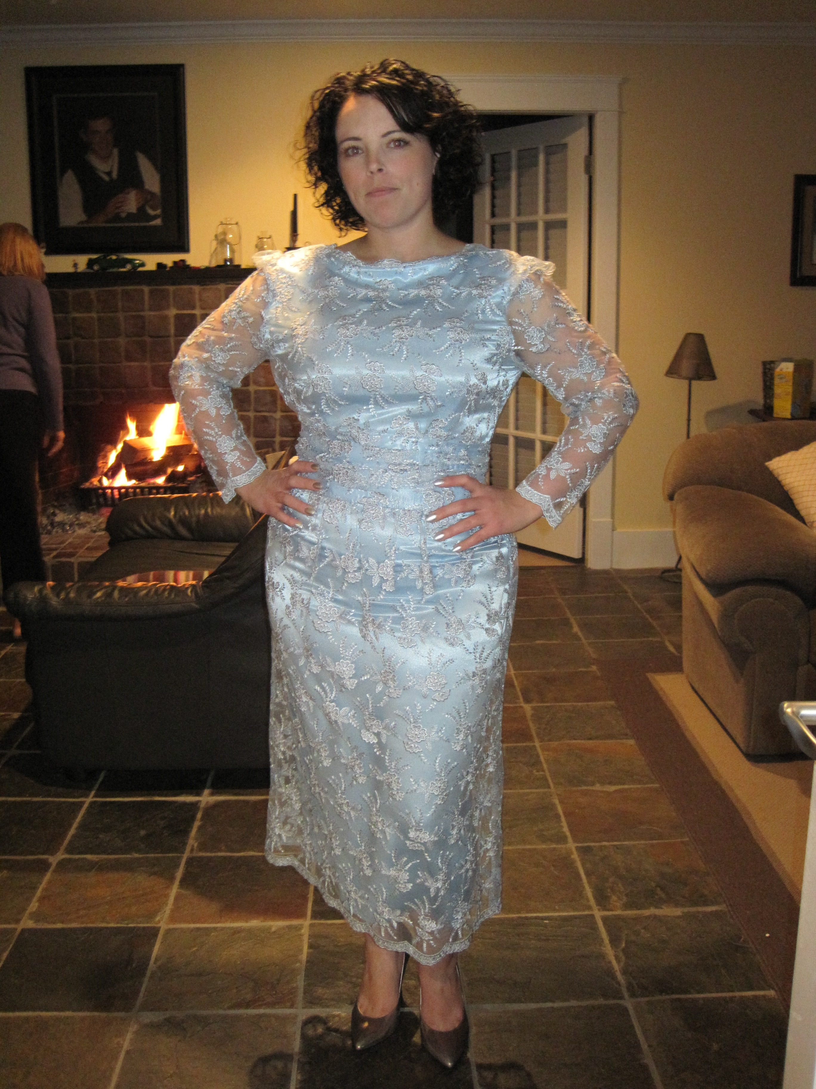 The art of the refashion: 80s dress goes50s