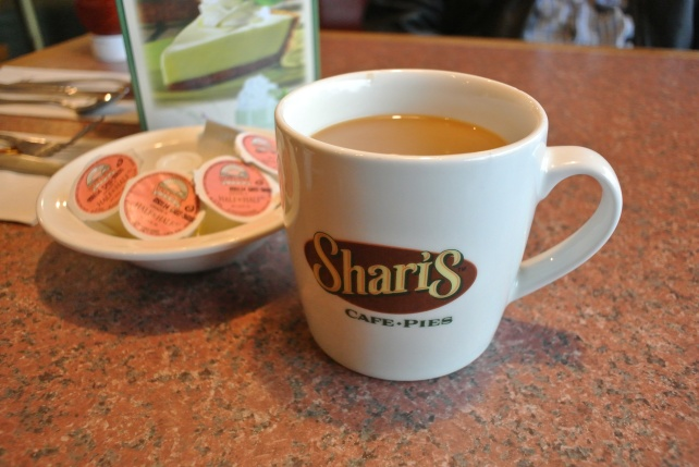 First things first: Breakfast! We hit a sort of pie diner that's like Dennys but isn't, called Sharis.