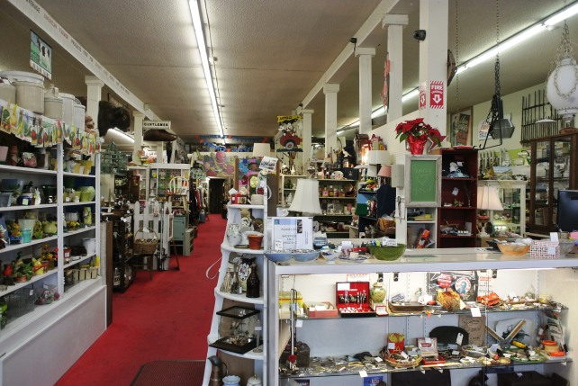 View on entry: a sea of glorious antique curiosities.