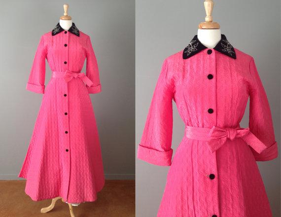 pink 50s housecoat