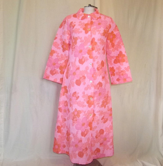 pink 60s housecoat