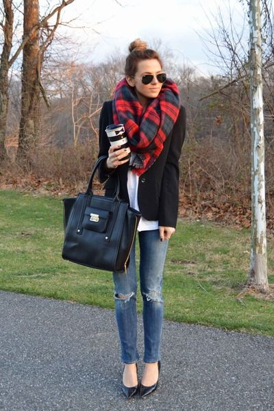 plaid scarf 2
