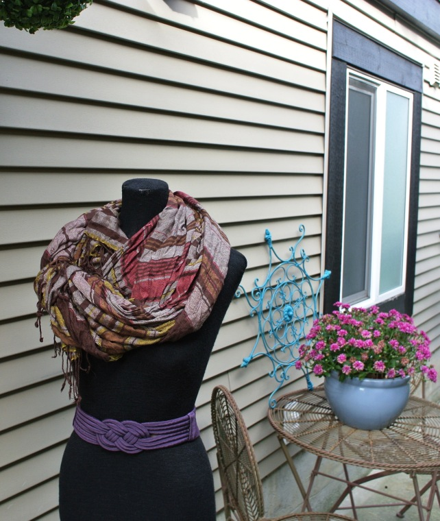Brown & burgundy plaid $10