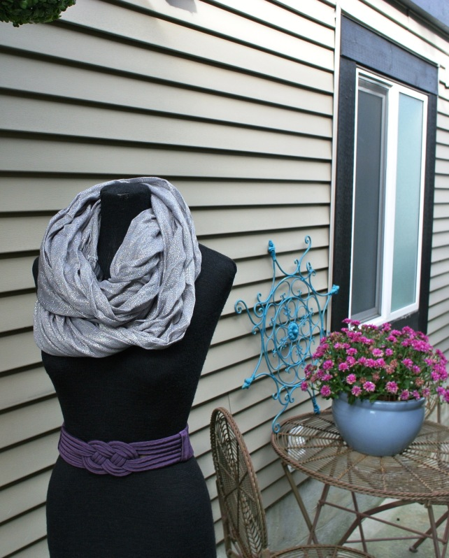 Silver Sparkle circle scarf $10
