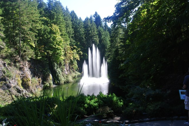 Lower Garden fountain, Butchart Gardens