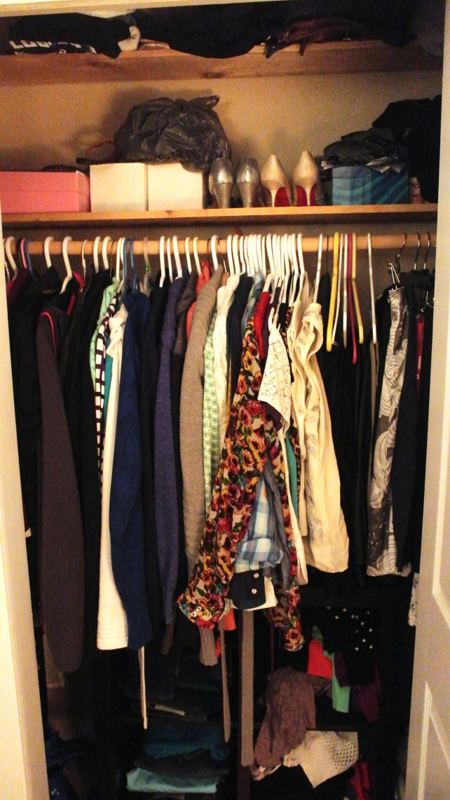"The ""Before"" closet"