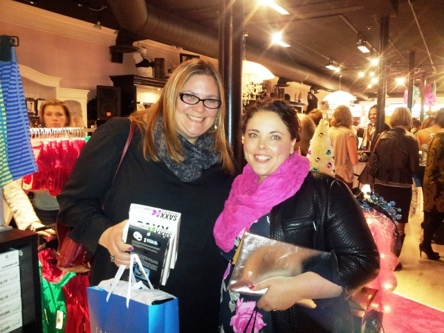 My lovely friend Jen from Dragonfly Consulting: She's brilliant at organizing events AND attending them!  She was an awesome date, and got Christmas gifts for her hubby!