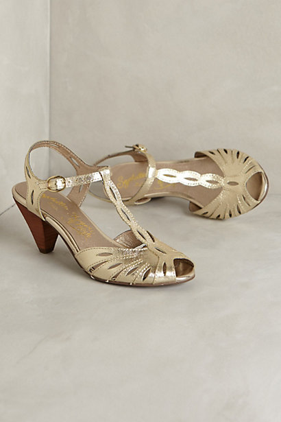 gold dancing shoes