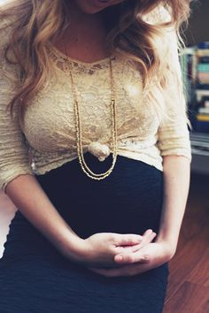 Pregnant or not, knot a cute top over a maxi dress to give it a little something extra.