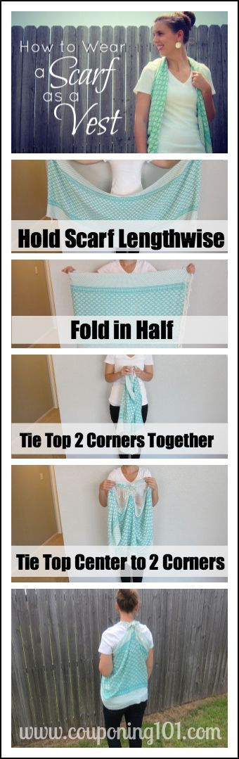 Tutorial on how to make a vest out of a scarf