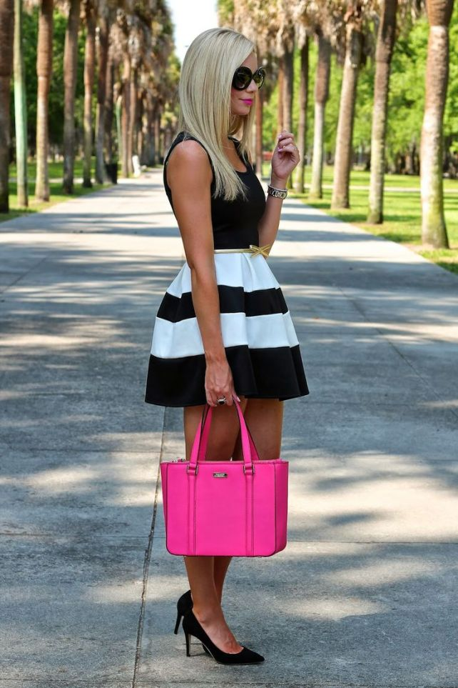 You can't go wrong with a bright pink bag.  Use it for casual or formal occasions to look instantly chic.