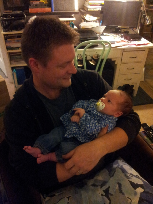 Bonus Picture: Jeff holding Baby Edith, our niece.  A natural, isn't he?