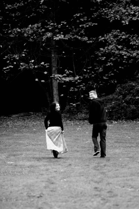 Same photo shoot at Stanley Park: running away together <3