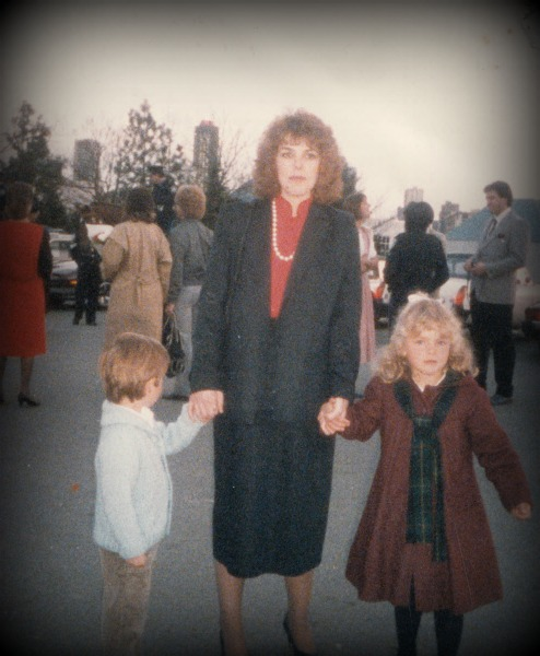 Here we are at my Dad's police graduation.  See my swing coat?  I wish I could find that in adult sizes!