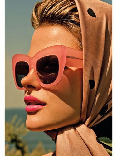 Warm it up!  Need: fabulous ponytail or updo, square sunnies, silk square scarf.