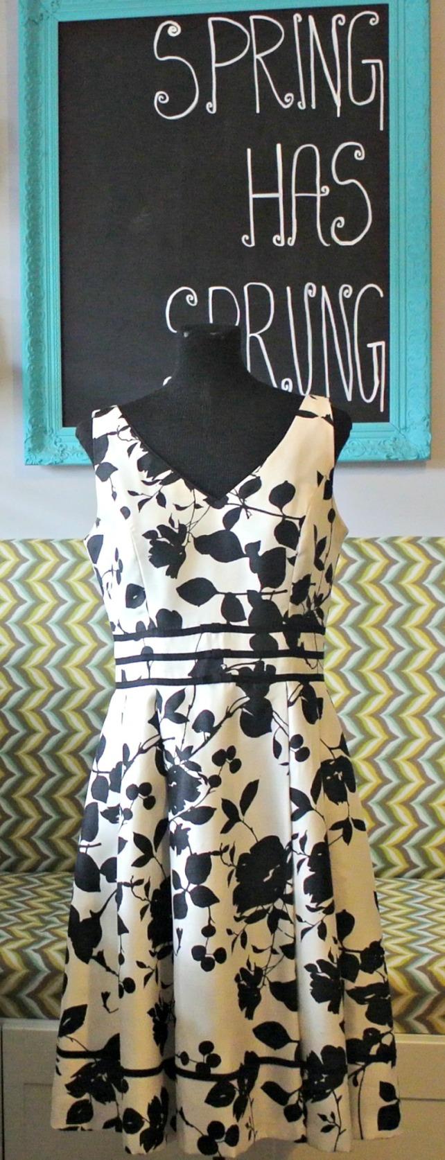Black floral dress 1