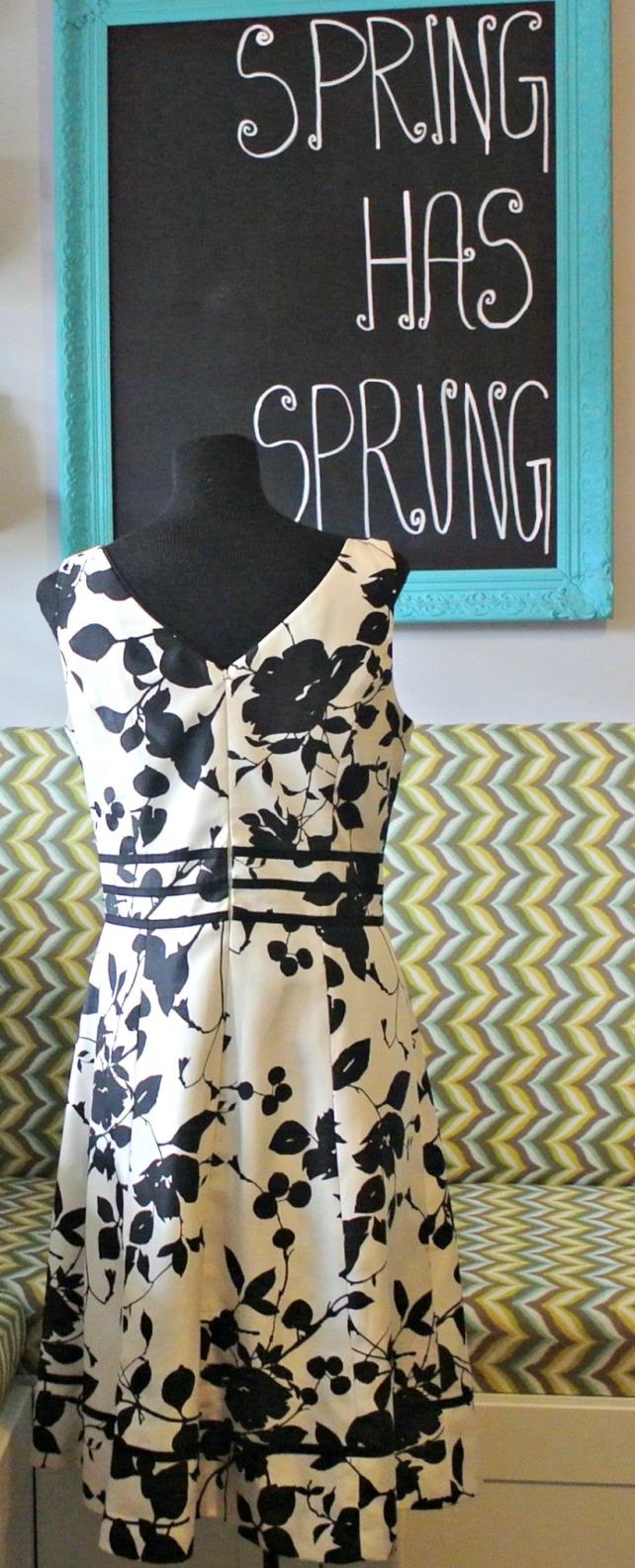 Black floral dress 3