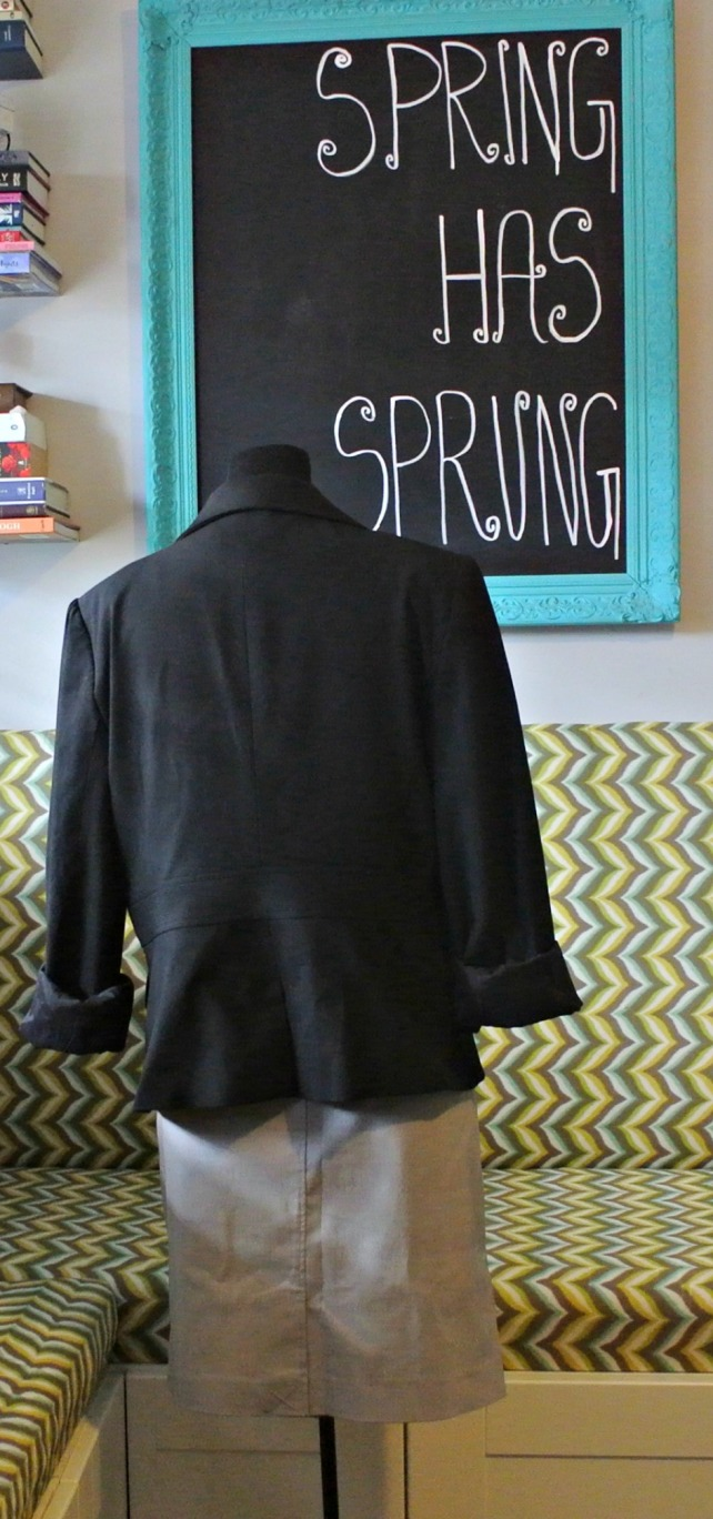 Black pinstripe jacket 1