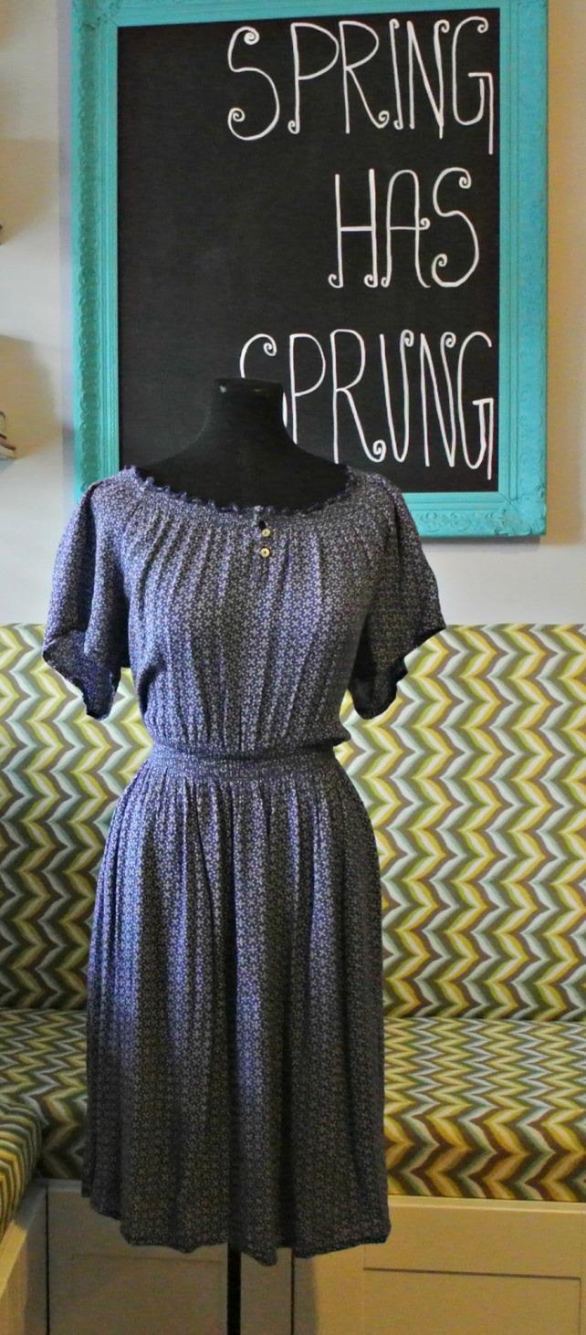 blue peasant dress 1