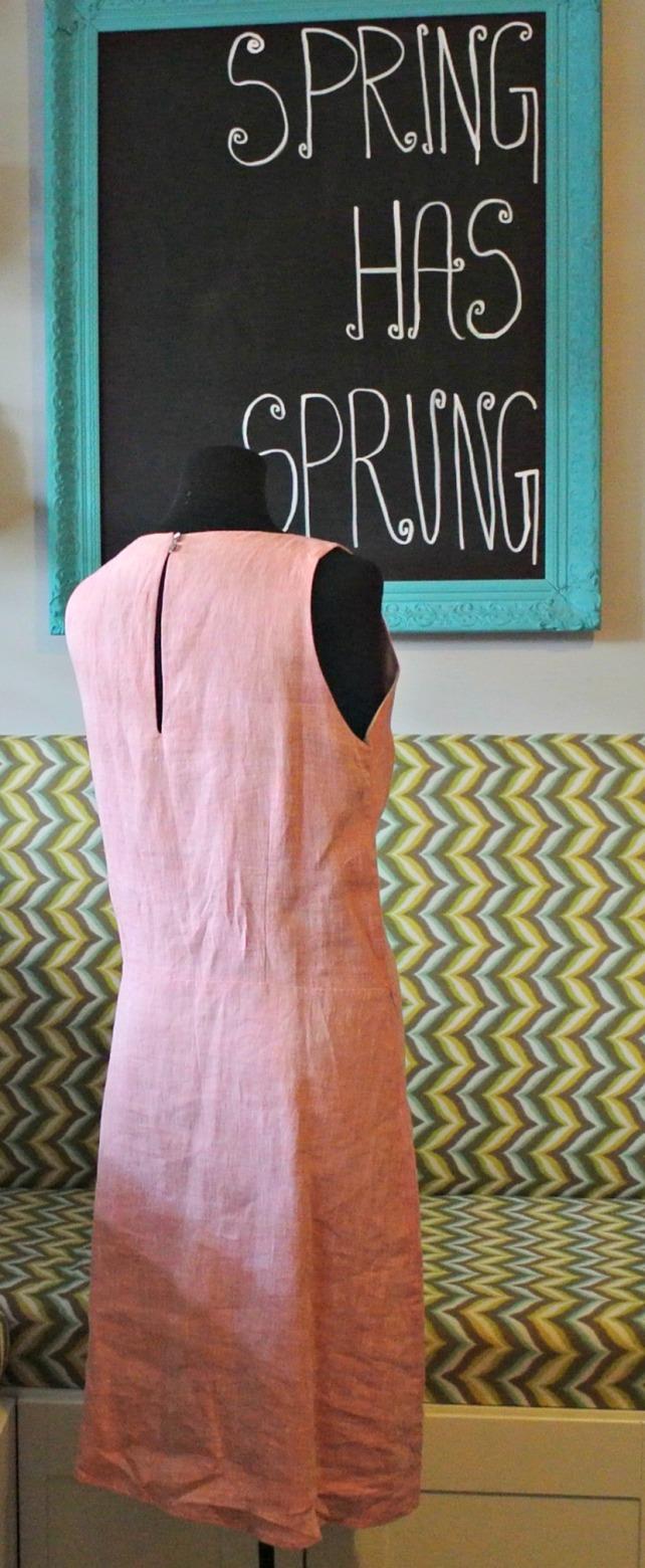 pink linen dress 2